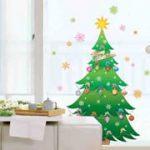 人気商品クリスマス柄のウォールステッカー。自分で貼るだけDIY お部屋を簡単デコレーション