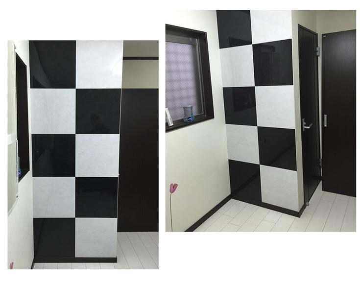 ルームファクトリーオリジナル商品 ウォジック・フロアタイル 白と黒のモノトーン