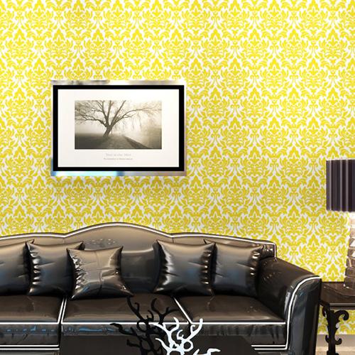本物のようなリアルな質感のゴージャスなダマスク柄壁紙が簡単に自分でDIYできる「プレミアムウォールデコシート」