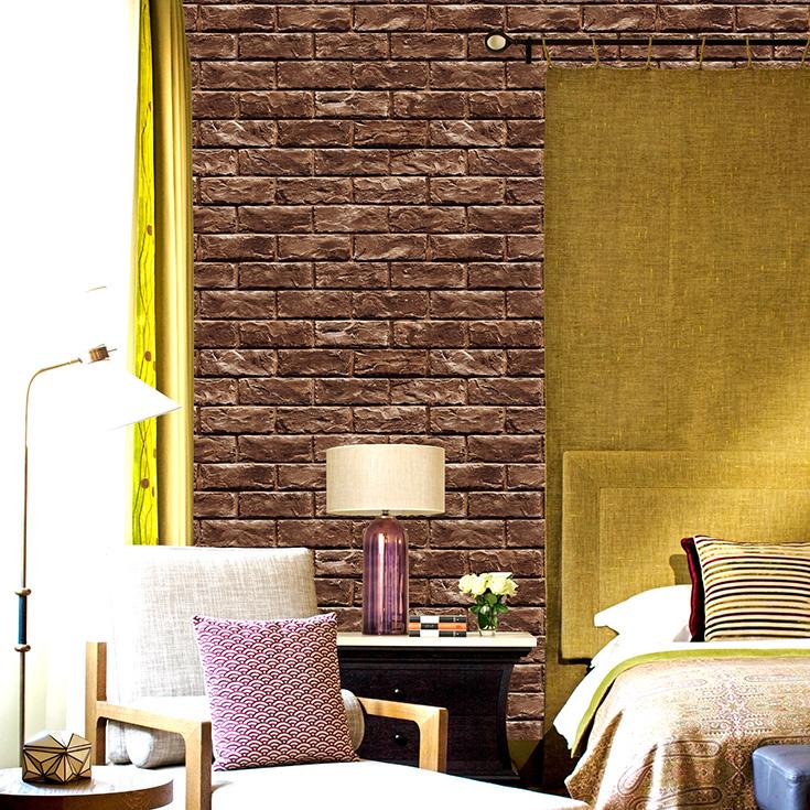 本物のようなリアルな質感のレンガ柄の壁紙が簡単に自分でDIYできる「プレミアムウォールデコシート」