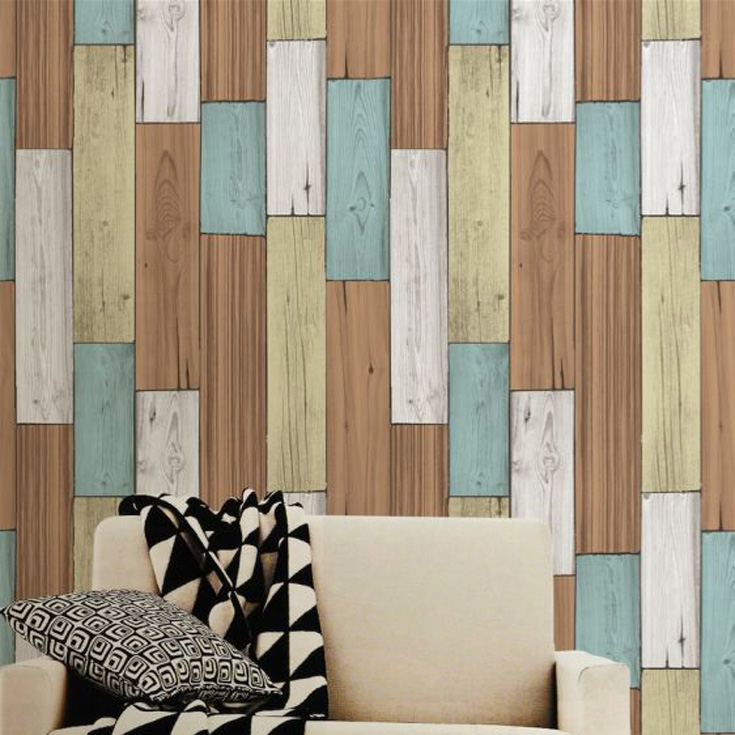 本物のようなリアルな質感のヴィンテージウッドの木目柄壁紙が簡単に自分でDIYできる「プレミアムウォールデコシート」
