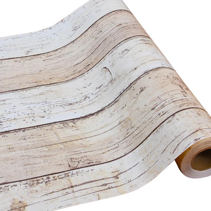 本物のようなリアルな質感のナチュラルウッドの木目柄壁紙が簡単に自分でDIYできる「プレミアムウォールデコシート」