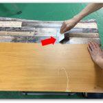 家具リメイク壁紙シール!3段ボックス、化粧板はがれ、汚れ隠し
