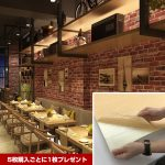 赤煉瓦倉庫風シール壁紙クッションシートで店舗イメージアップ